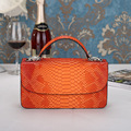 2016 New Women Handbags Orange Serpentine Chains Cover Messenger Shoulder Bags Messenger Bag Crossbody Flap Totes Ladies Handbag