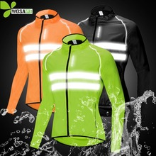 WOSAWE High Visibility Cycling Jackets Men Breathable Windproof Reflective Rain Water Resistance Bike Bicycle Sports Windbreaker
