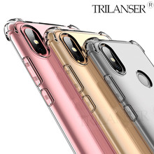 TRILANSER Airbag 360 Full Case for Xiaomi Redmi Note 7 Pro phone case note 5 silicone transparent