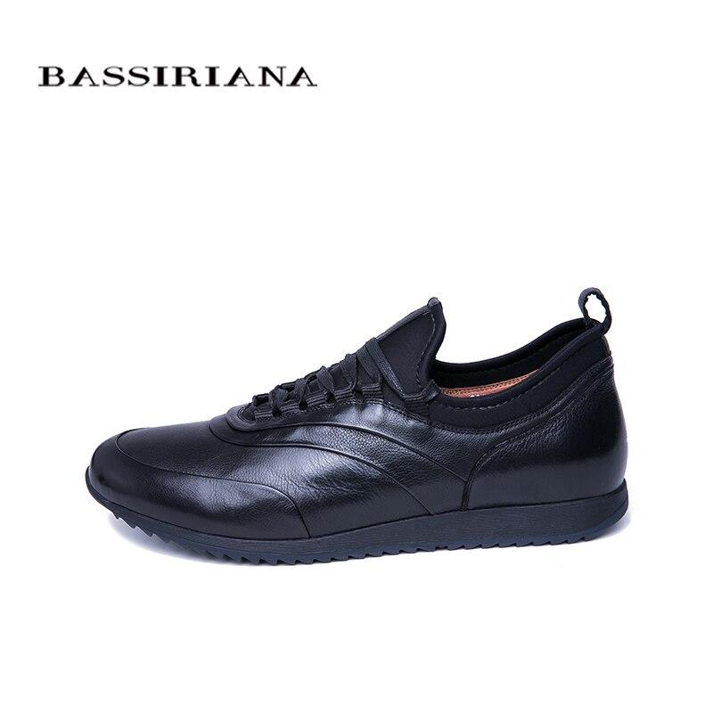 BASSIRIANA 2019 primavera y otoño zapatos casuales de Hombre Zapatos de cuero natural para hombre tamaño cómodo 39 45-in Zapatos informales de hombre from zapatos    2