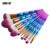 Maange 10 unids pinceles de maquillaje set diamond mango rainbow cosméticos fundación colorete powder blending brush belleza herramientas kits