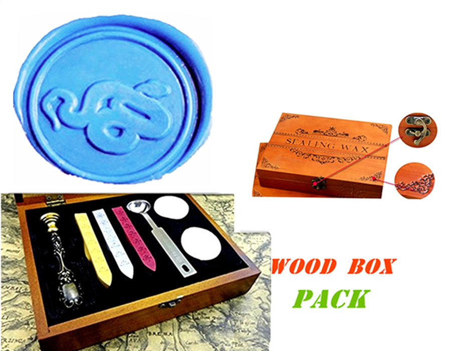 цены  Vintage Snail Custom Luxury Wax Seal Sealing Stamp Brass Peacock Metal Handle Sticks Melting Spoon Wood Gift Box Set