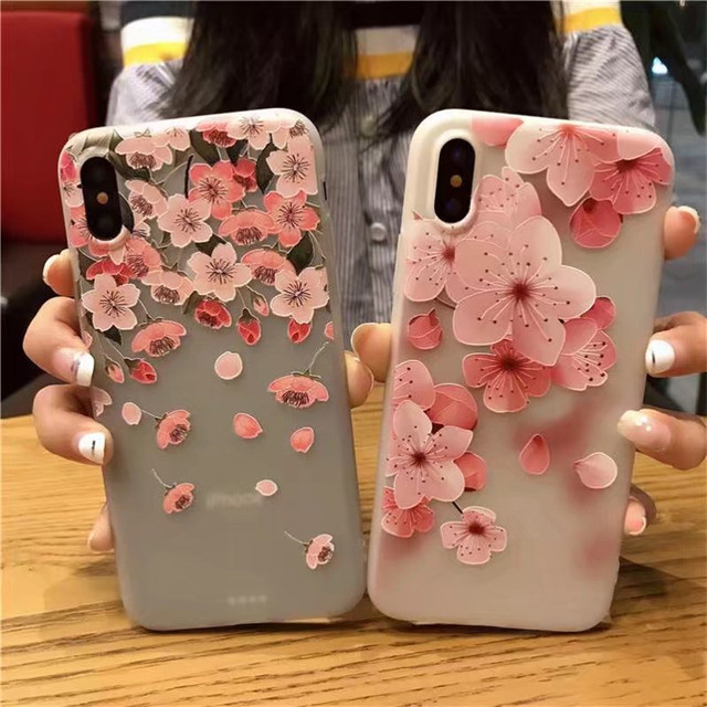 brand new 5911a 63e1c US $3.7 |3D Relief Flower Phone Case For iPhone X Case Soft TPU Silicon  Floral Colorful Phone Cover For iPhone X Case Accessories Capa-in Fitted  Cases ...