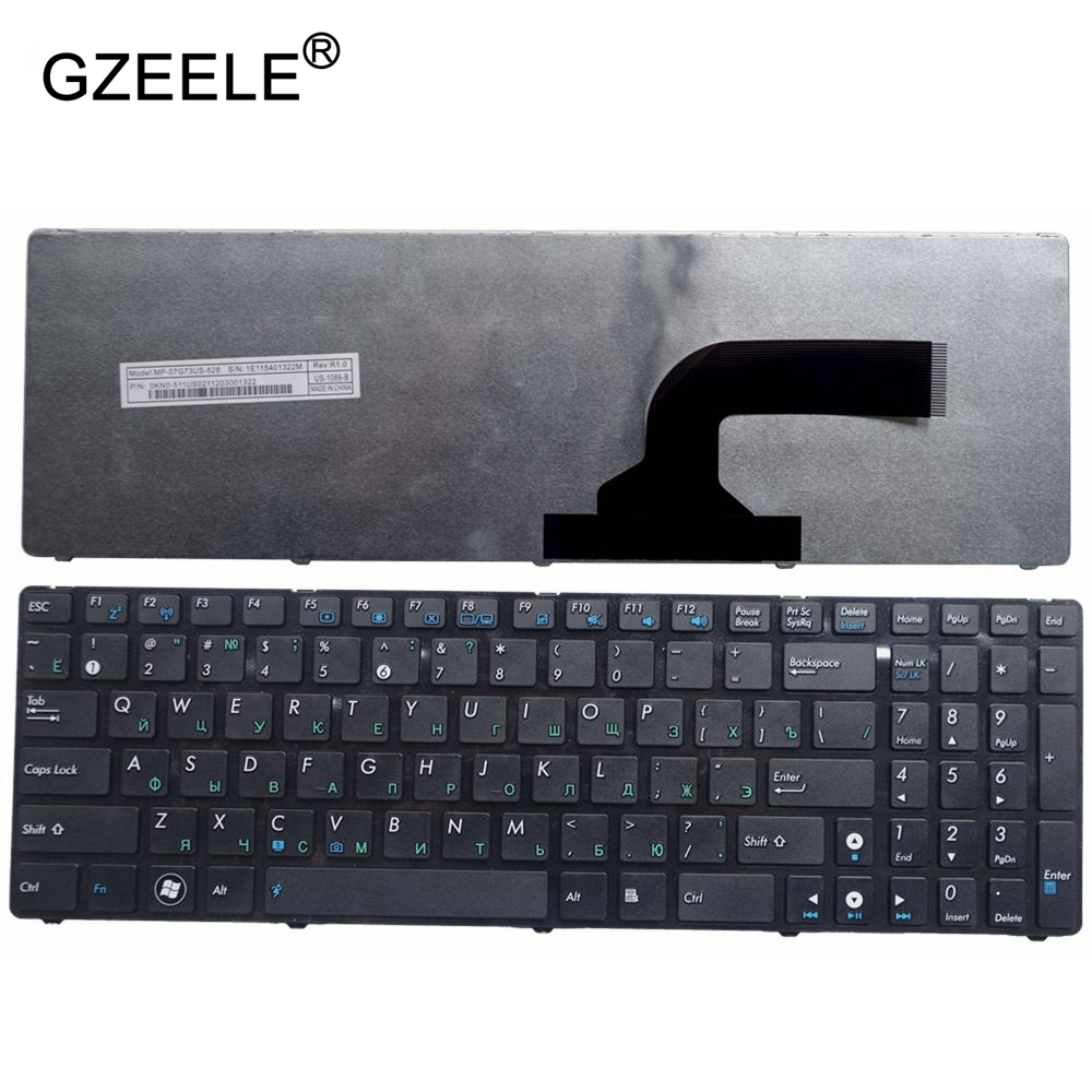 GZEELE New FOR ASUS K73SV A73 A73B A73E A73S A73T K72D K72DR K72DY K72J X53 K52 RU Russian NEW Laptop Keyboard Black With Frame