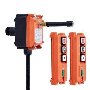 Image 2 - TELECRANE יחידת אלחוטי תעשייתי מרחוק בקר מנוף חשמלי שלט רחוק 2 משדר + 1 מקלט F21 2S