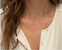 2016 verano estilo de capa 2 flecha collar del diseño colgante encanto collar de gargantilla de oro joyería de las mujeres de boho gargantilla Collares Regalos