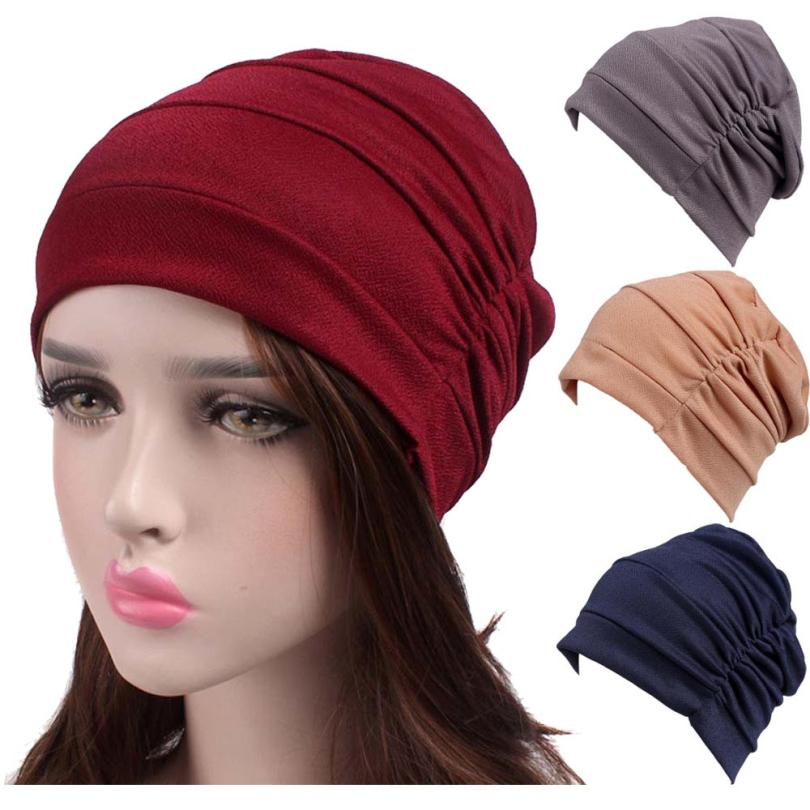 где купить Women New Elastic Cap Turban Muslim Cancer Chemo Hat Beanie Scarf Turban Head Wrap Cap High Quality Travel Street Take Photo по лучшей цене