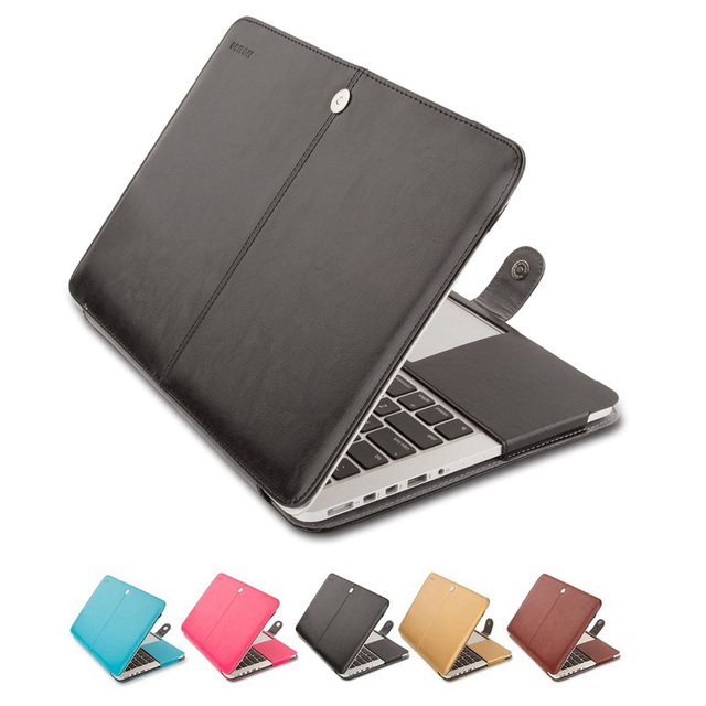 purchase cheap 5fc10 4371d US $14.99 |Mosiso Portable PU Leather Case for Macbook Pro 13 15 Retina  2013 2014 2015 Mac Book Pro Accessories A1502 A1425 A1398-in Laptop Bags &  ...