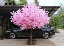 180 см высотой 150 см ширина розовый искусственный персиковое дерево/cherry blossom дерево-Свадебные украшения дорога ведет реквизит для торжественных событий