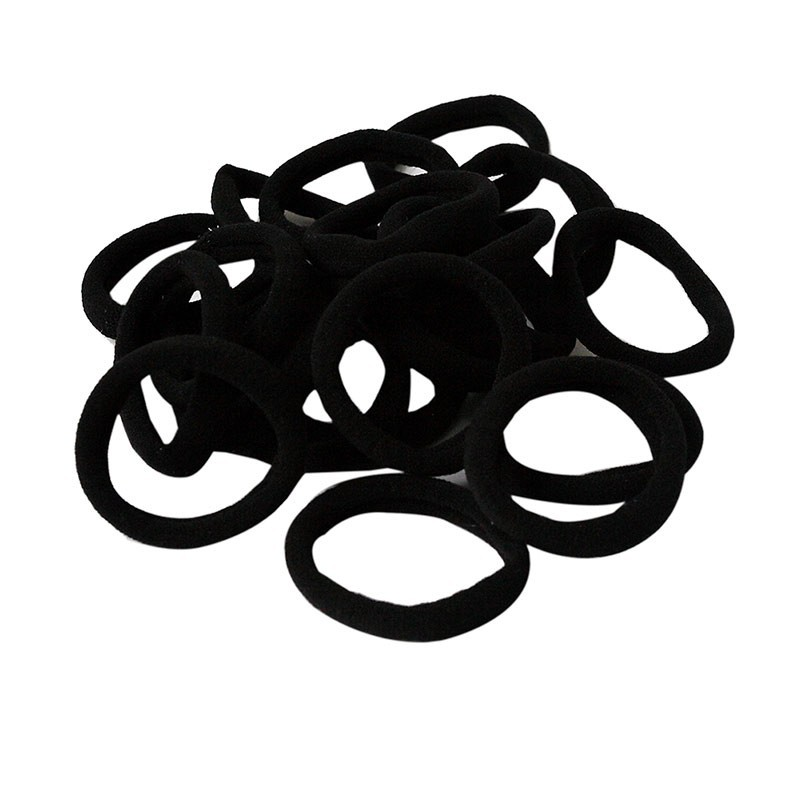 HOT 10Pcs/lot Baby Girls Women Elastic Hair Ties Bands Rope Ponytail Holders Headband Scrunchie Styling Accessories Black