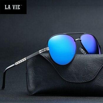 2017 новые модные брендовые дизайнерские солнцезащитные очки для мужчин и женщин в стиле ретро пилота поляризационные очки для вождения рыба... >> Lavie Glasses Store