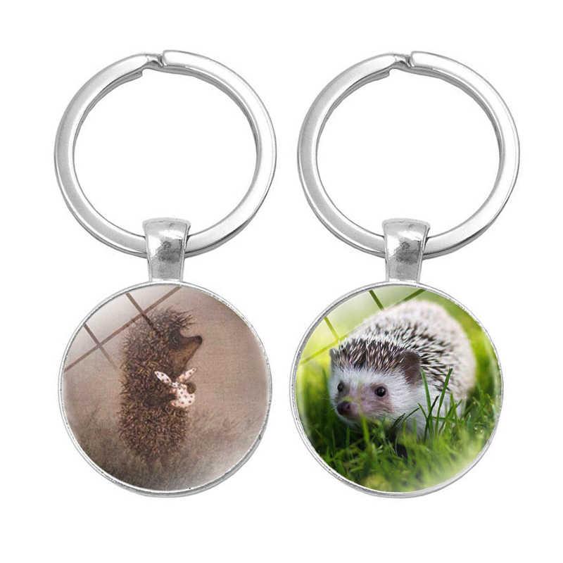 17 stili Hedgehog Nella Nebbia portachiavi uomini donne Dichiarazione Del Pendente Fatti A Mano anello della catena chiave di Modo di trasporto dei monili del supporto