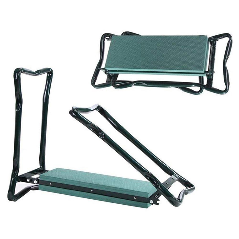 Multifunctional Folding Garden Kneeler Garden Kneeler with Handles Folding Stainless Steel Garden Stool with EVA Kneeling Pad