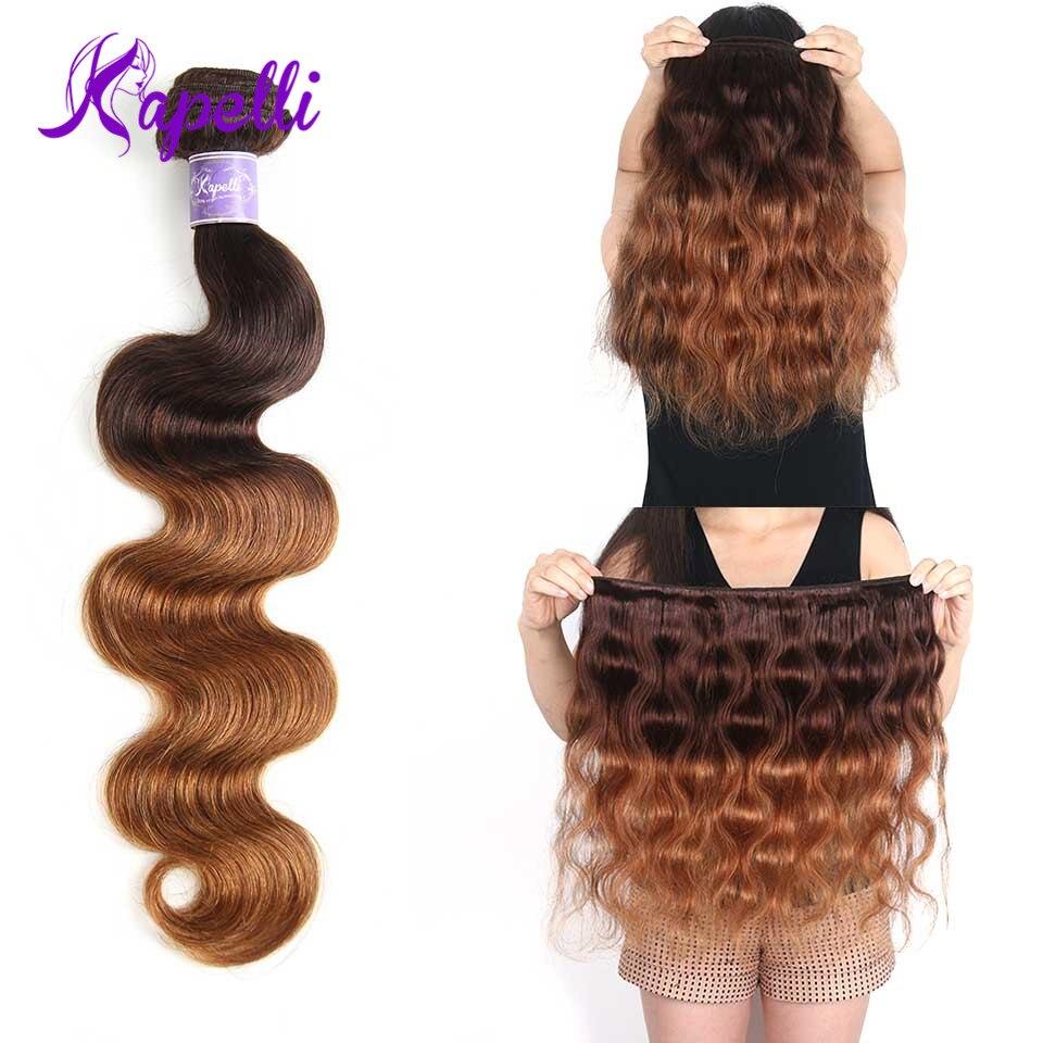 Kapelli Ombre pelo Ombre onda del cuerpo del pelo brasileño paquetes ...