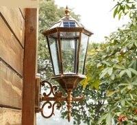 Дневной свет Солнечный настенный светильник светодиодный уличная Солнечная лампа настенный водонепроницаемый садовый светильник лампа В