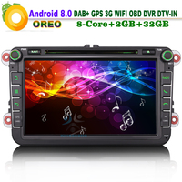 8 DAB Android 8 0 Autoradio Car Sat Navi DVD DVR CD DTV Bluetooth WiFi 3G