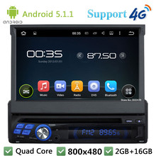 Quad Core 16GB 7″ HD 1Din Android 5.1.1 Universal Car DVD Video Player Radio Stereo Screen USB FM BT 3G/4G WIFI GPS Map