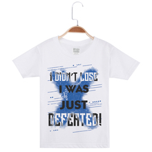 Limited Time Discount Boy Tees Top For Children Cotton Fashion Funny T-Shirt Creative Letter Print Child O-Neck Kids Tshirt