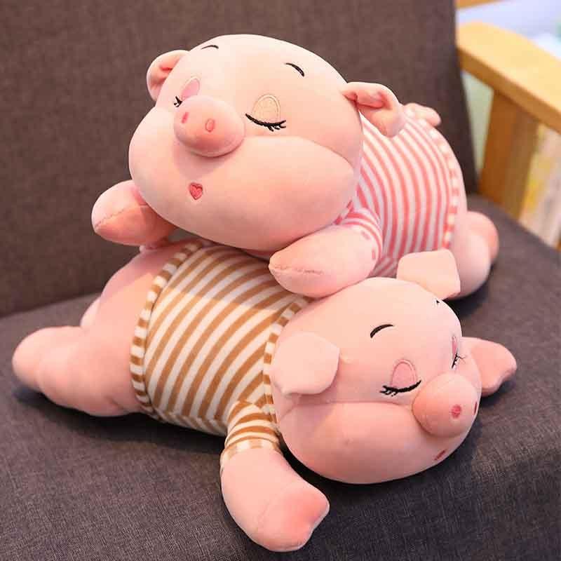 1 Pc 30/40/50/70 Cm 3 Patronen Knuffel Slaperig Varken Beeldje Leuke Gestreepte Piggy Pop Grote Sofa Kussens Knorretje Brinquedos Voor Kinderen