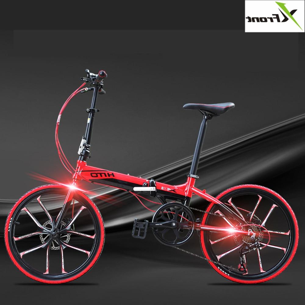 LOVELION nouvelle marque en alliage d'aluminium 20/22 pouces cadre 6 vitesses vélo pliant extérieur Bmx frein à disque Bicicletas dame enfants vélo