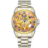 В 2019 году новые часы Мужские автоматические водостойкие Календарь бизнес случайные мужские watch3