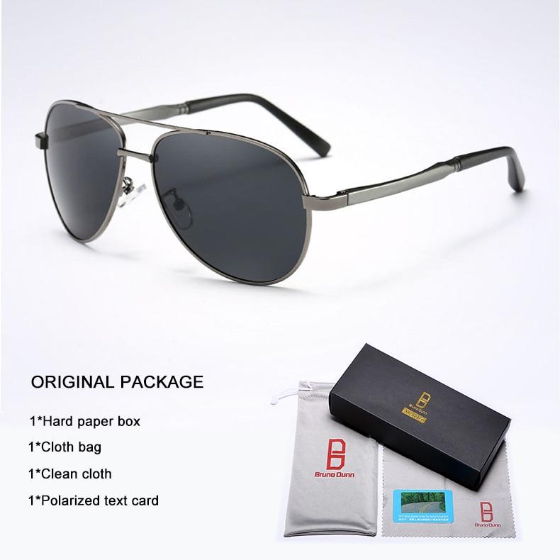 Bruno Dunn 2020 Aviation Men Sunglasses Polarized Sun Glases oculos de sol masculino aviador UV400 high quality  Sunglases 20