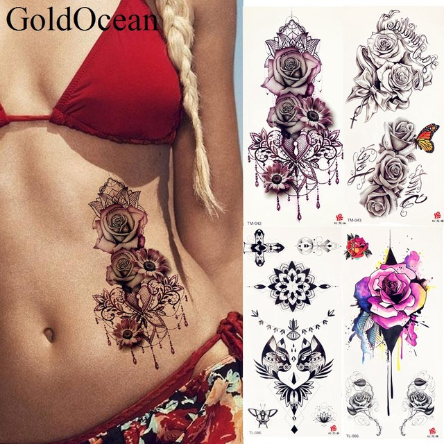 Rose Tattoos For Girls On Chest , rose tatoo