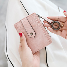 Women Wallets Zipper Purse Patchwork Fashion Panelled Trendy Coin Card Holder Leather Slim Wallet Small Purses