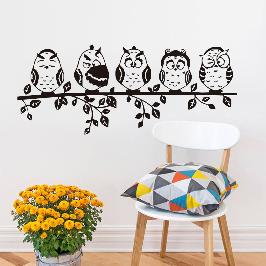 Aliexpress buy five coffee baby owl wall decal pvc aliexpress buy five coffee baby owl wall decal pvc waterproof hollow out home decor living room wall sticker from reliable wall sticker suppliers on amipublicfo Image collections