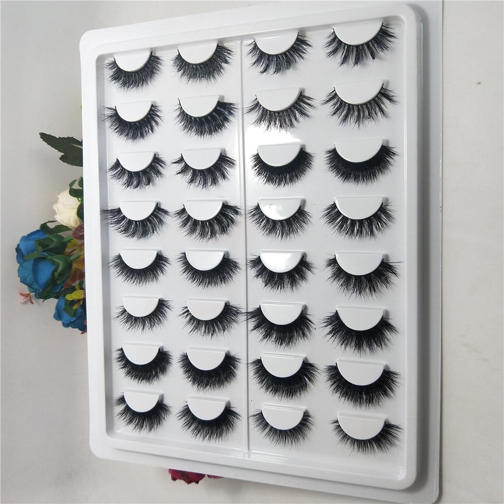 16styles/set 100% Real 3D Mink Lashes Soft Natural False Eyelashes Mink Eyelashes Makeup Long Eye Lashes Eyelash Extension