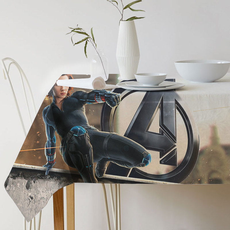 New Super Hero Battle of Infinity Decorative Table Cloth Cotton Linen Tablecloth Dining Table Cover For Kitchen Home Decor