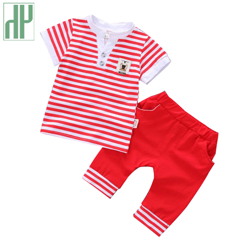 Summer children clothing Striped Tops + Shorts formal kids clothes casual toddler boys clothing baby girls outfits 2Pcs/set floral toddler girl clothing 2017 summer kids clothes baby girls off shoulder ruffle crop tops high waist shorts outfits set 3pc