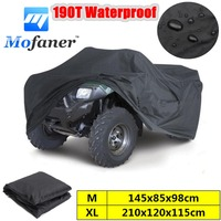 Black Universal M XL 190T Waterproof Quad ATV Cover Vehicle Scooter Motorbike Cover
