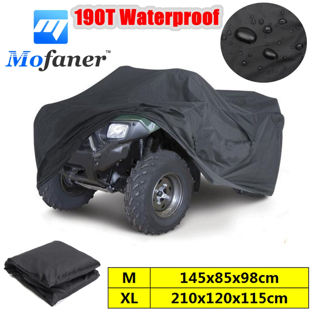 Mofaner Black Universal M/XL 190T Waterproof Quad ATV Cover Vehicle Scooter Motorbike Cover atv запчасти и аксессуары hl xl atv