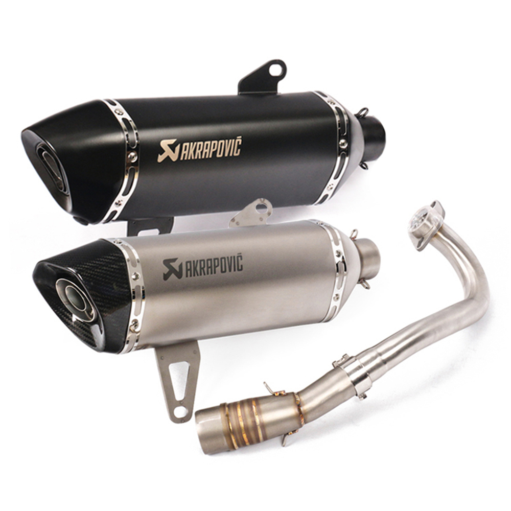 Universal Akrapovic Motorcycle <font><b>Exhaust</b></font> Modified <font><b>Exhaust</b></font> Muffler Akrapovic Moto for <font><b>Yamaha</b></font> <font><b>Xmax</b></font> <font><b>250</b></font> XMAX250 <font><b>Xmax</b></font> 300 XMAX300 image