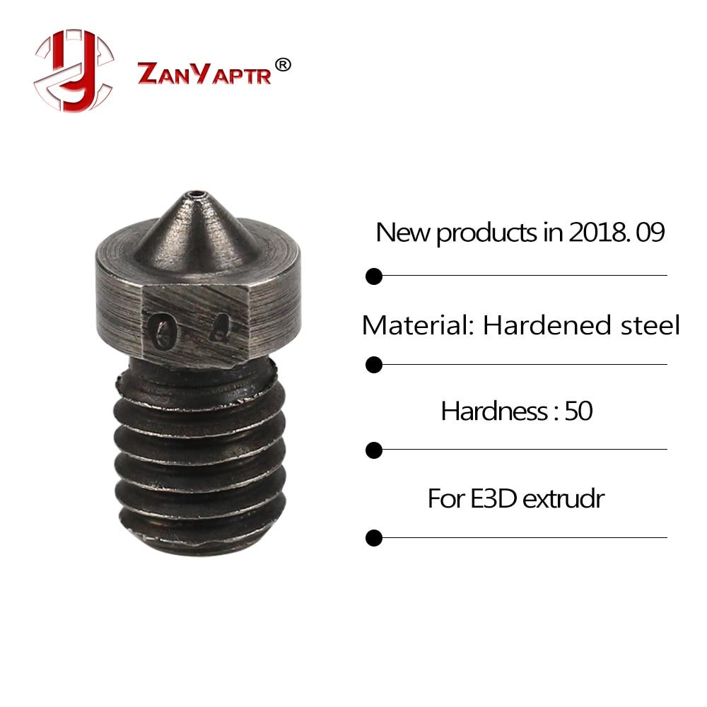 1Pcs 3D Printer Parts Hardened Steel Die Steel Nozzle J-Head  Extruder For 0.4/0.6/0.8/1.0/1.2/1.5mm For 1.75mm For 3D V6 & V5