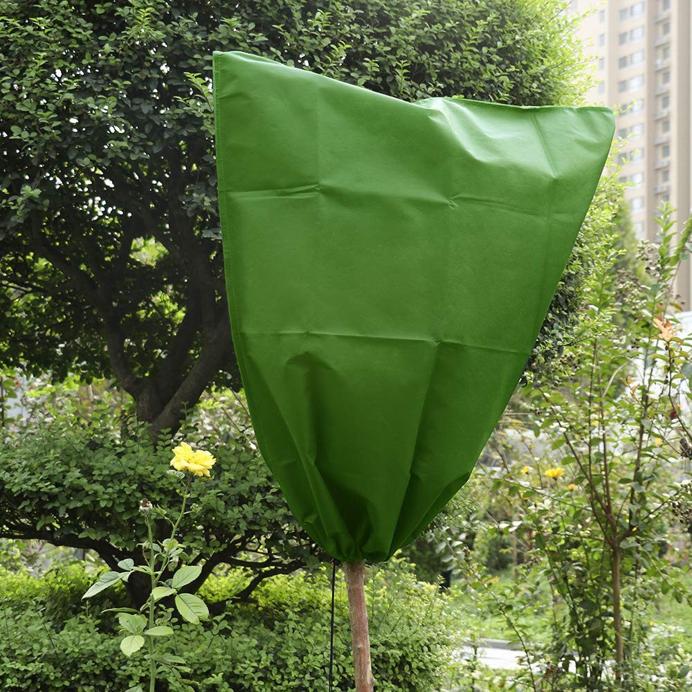 Plant Frost Freeze Protection Protector Bag Polyester Fabric Garden Shrubs Cover
