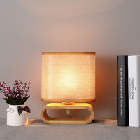 Tuda Free Shipping Japanese Style Table Lamp Solid Wood Small Table Lamp Modern Simple And Warm