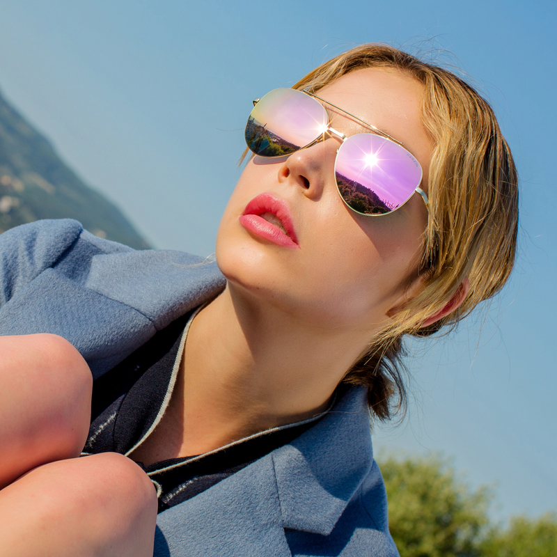 PARZIN Brand Quality Women Pilot Sunglasses Spring Colorful Polarized Driving Sun Glasses With Beautiful Logo Box 2017 New