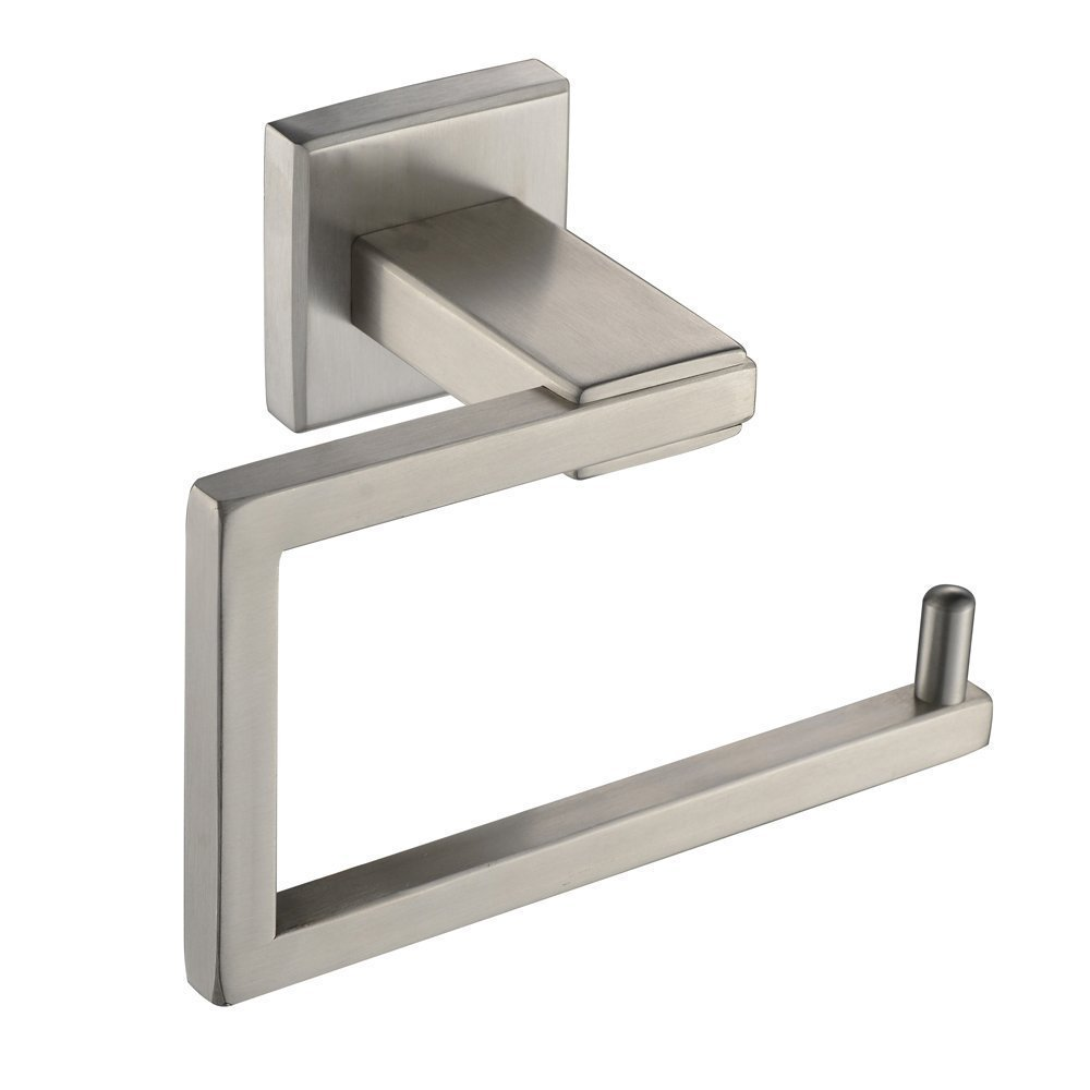 2016 wholesle sus 304 stainless steel hotel square style wall mount toilet paper holder brushed finish