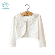 YouBeiKa Baby Girls Cardigan Kids Cotton Jacket For Girls Jacket Children Longsleeve Cardigan Summer Lace Cardigan Child Clothes