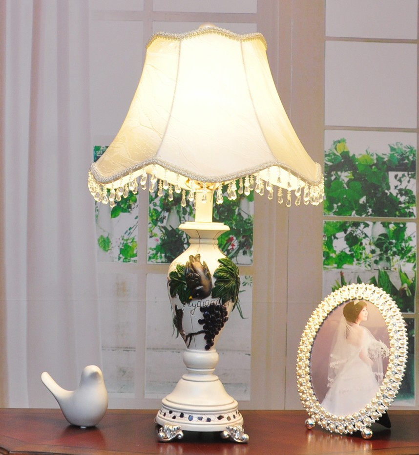 TUDA 18X65cm Free Shipping European Rural Style Table Lamp For Bedroom Europeanstyle Wedding Home Table Lamp Decoration Lamp