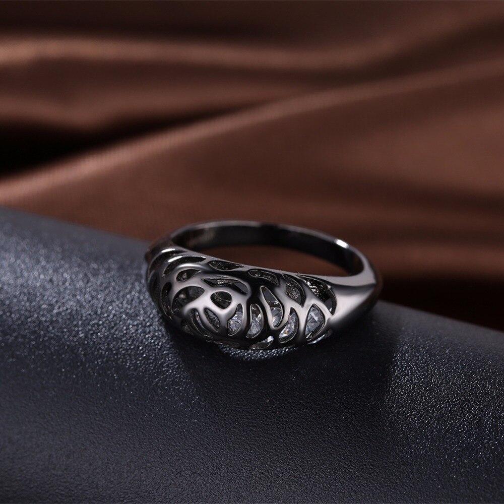 GNIMEGIL Brand Jewelry 8mm Black Hollow blue Dragon 316L Stainless Steel wedding rings for men women wholesale