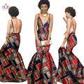 Летние Женщины традиционные африканские платья Марка Пользовательские Одежда Африка Воск Dashiki Тонкий Cut Сексуальное Платье большой размер ни BRW WY710