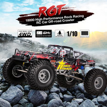 RGT RC Car 18000 1:10 10km/h 2.4GHz 4WD Waterproof Racing RC Car Off-road Rock Crawler RTC RC Toys for Children(China)
