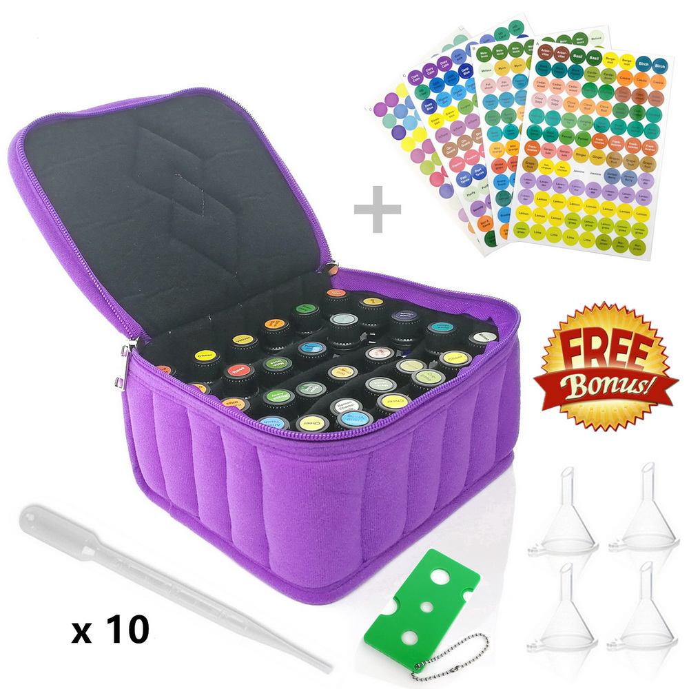 30 Bottles Essential Oil Carrying Case Holder 5~15ml DoTERRA Young Living Oils Travel Portable Nail Polish Organizer Storage Bag