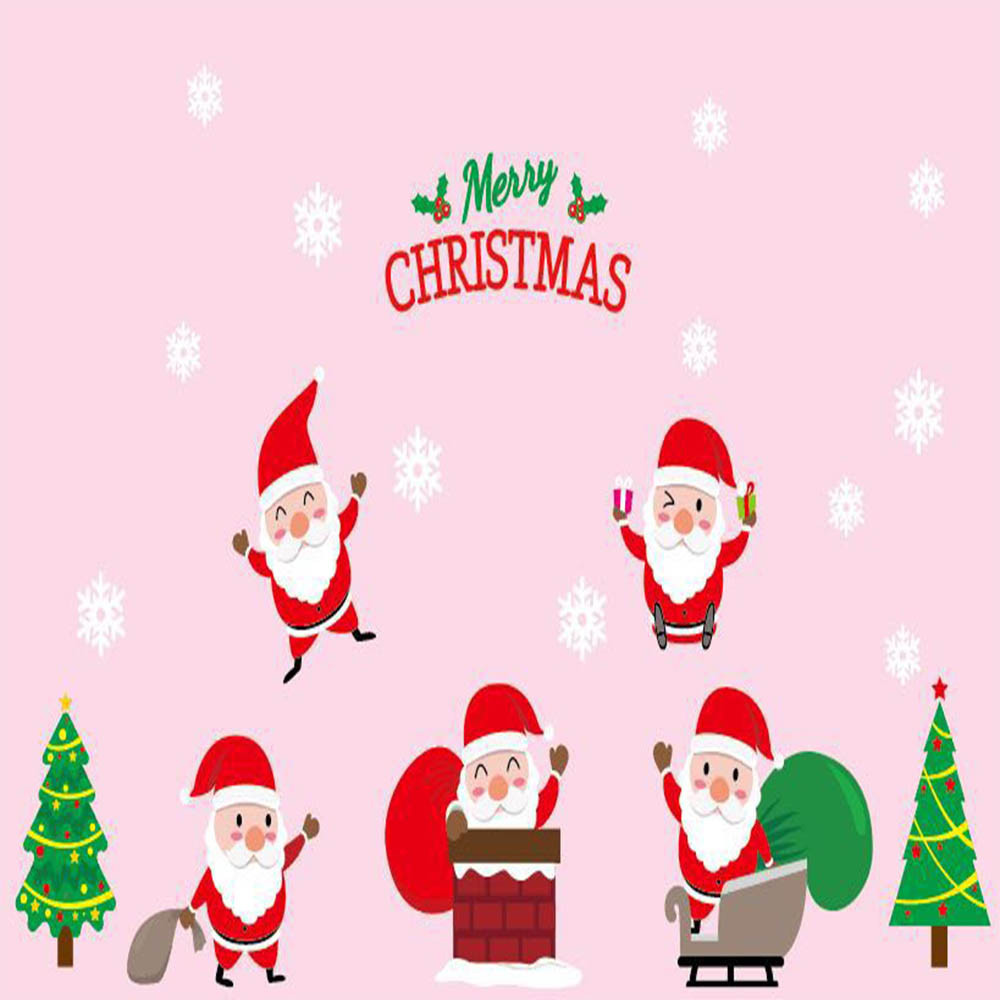 2018 Merry Christmas Window Stickers Static Electricity Removable Plane Wall Sticker For Sitting Room