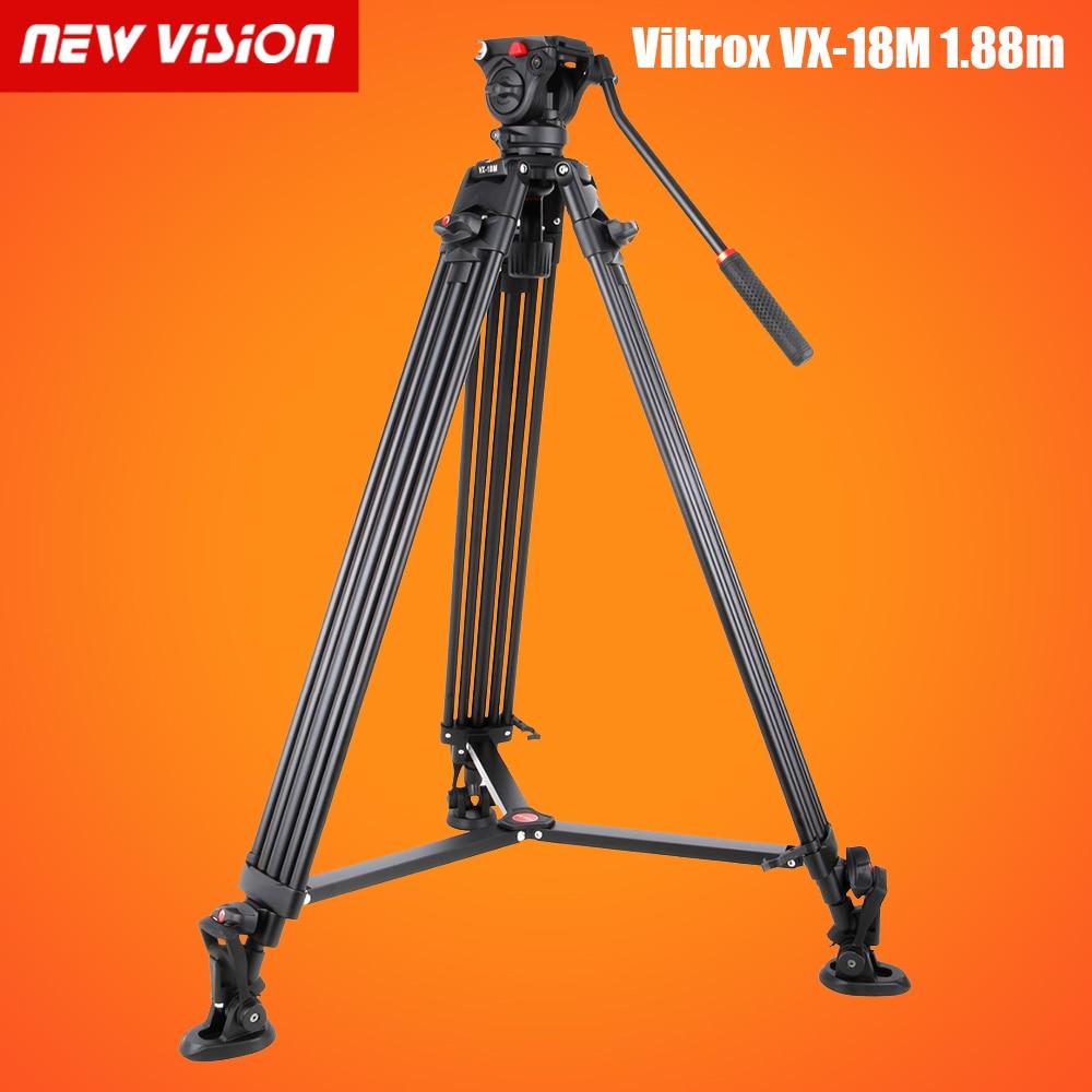 Free DHL Viltrox VX 18M 1 88m Aluminum Professional Heavy Duty Video Camcorder Tripod with Fluid