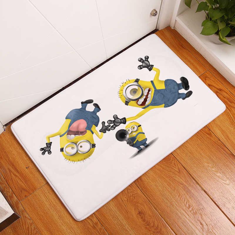 2017 gorąca sprzedaż piękny Cartoon śmieszne żółty miniony mata Vintage Almofadas dywan 40x60 cm 50X80 CM dekoracyjne
