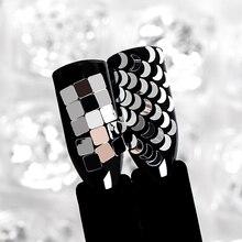 ERFÜLLEN ÜBER Holographische Silber Nail art Pailletten Flocken Nagel Glitters Stern Herz Blume Pailletten 3D UV Gel Polnischen Schmuck